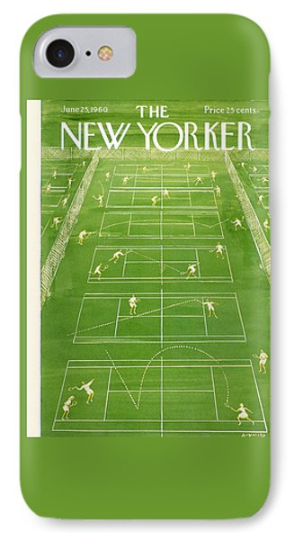 The New Yorker Cover - June 25th, 1960 IPhone 7 Case