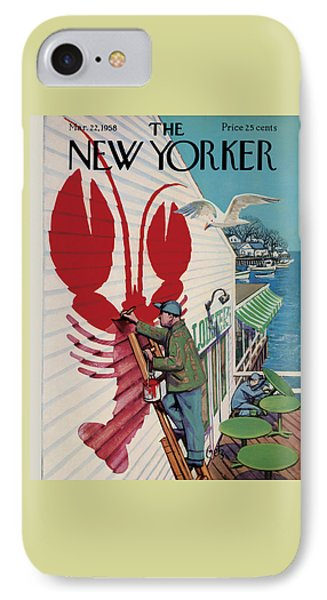 Food And Beverage iPhone 7 Case - The New Yorker Cover - March 22nd, 1958 by Arthur Getz