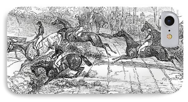 The Newport Pagnel Steeple Chase IPhone Case by John Frederick Herring Snr