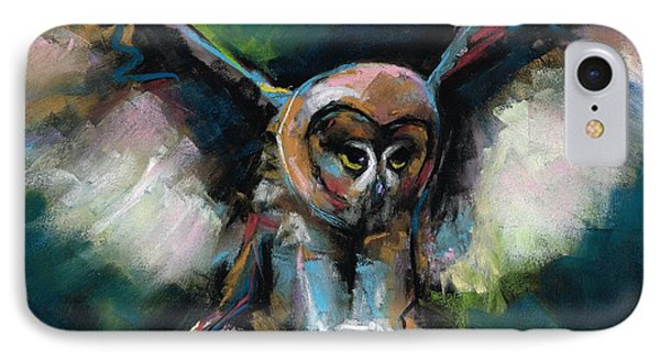The Night Owl IPhone Case by Frances Marino