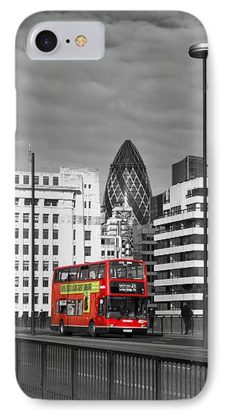 The No 43 To London Bridge IPhone Case by Hazy Apple