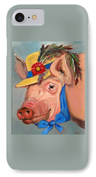 IPhone Case featuring the painting The Noble Pig by Susan Thomas