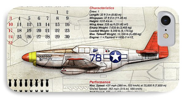The North American P-51 Mustang V1 IPhone Case by Gary Bodnar