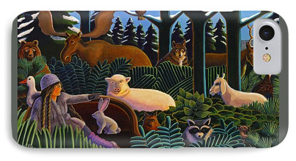 IPhone Case featuring the painting The North Woods Dream by Robin Moline