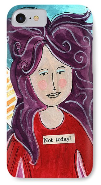 Fairy iPhone 7 Case - The Not Today Fairy- Art By Linda Woods by Linda Woods