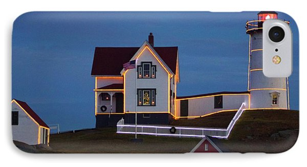 The Nubble At Christmas IPhone Case