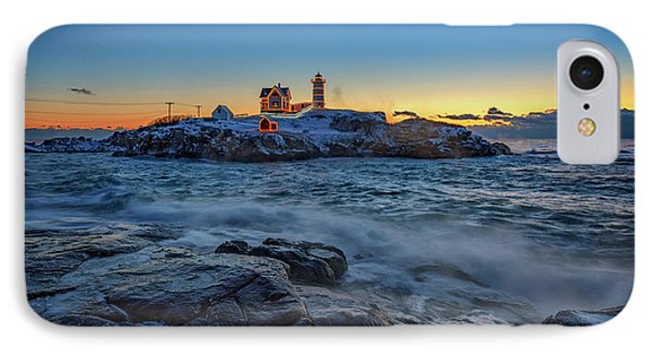The Nubble In Winter IPhone Case by Rick Berk