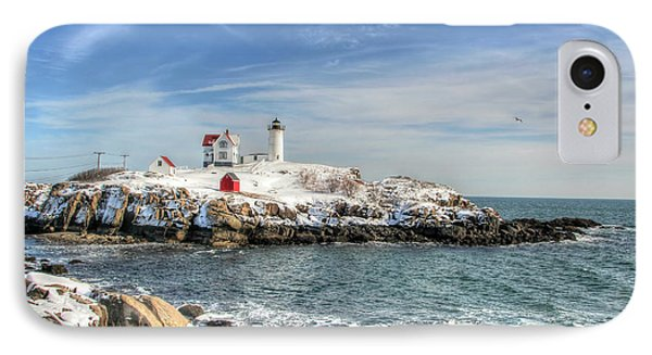 IPhone Case featuring the photograph The Nubble Light by Adrian LaRoque