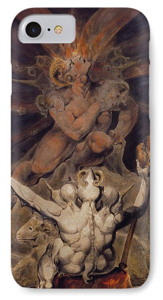 The Number Of The Beast Is 666 IPhone Case by William Blake