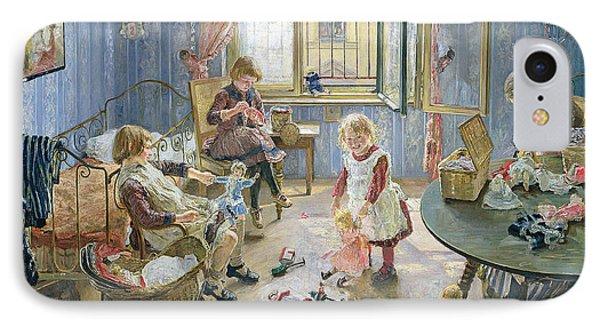 The Nursery IPhone Case by Fritz von Uhde