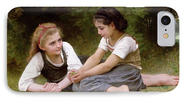 The Nut Gatherers IPhone Case by William-Adolphe Bouguereau