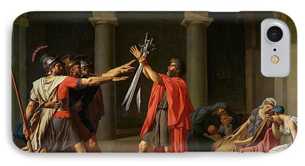 The Oath Of Horatii IPhone Case by Jacques Louis David