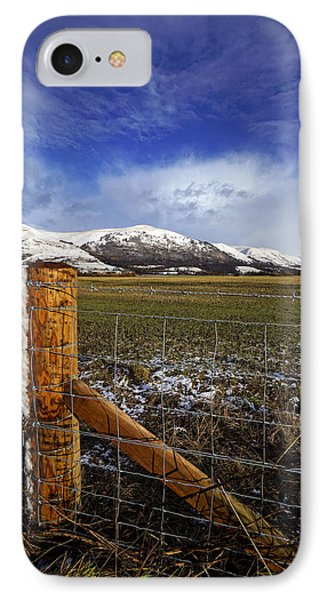 IPhone 7 Case featuring the photograph The Ochils In Winter by Jeremy Lavender Photography