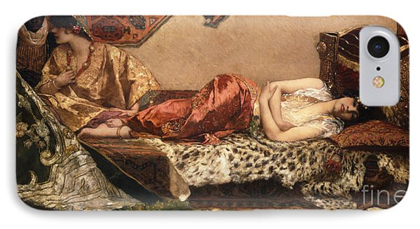 The Odalisque IPhone Case by Jean Joseph Benjamin Constant