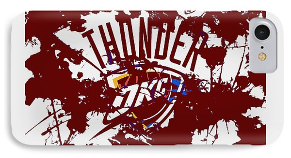 The Oklahoma City Thunder 1a IPhone Case by Brian Reaves