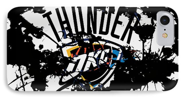The Oklahoma City Thunder IPhone Case by Brian Reaves