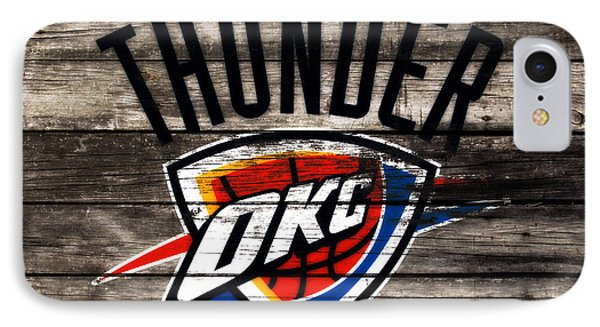 The Oklahoma City Thunder W10           IPhone Case by Brian Reaves