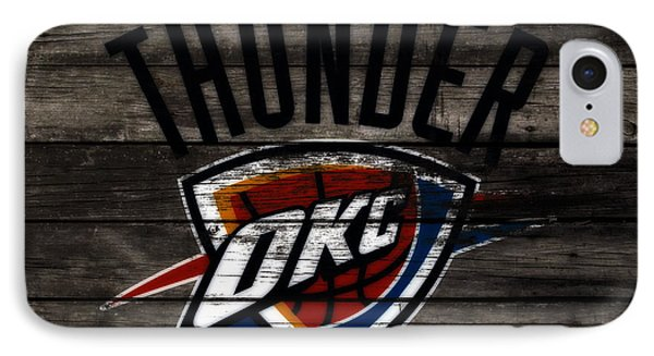 The Oklahoma City Thunder W7           IPhone Case by Brian Reaves