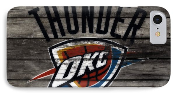 The Oklahoma City Thunder W8           IPhone Case by Brian Reaves