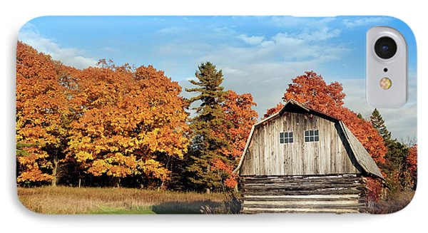 IPhone Case featuring the photograph The Old Barn In Autumn by Heidi Hermes