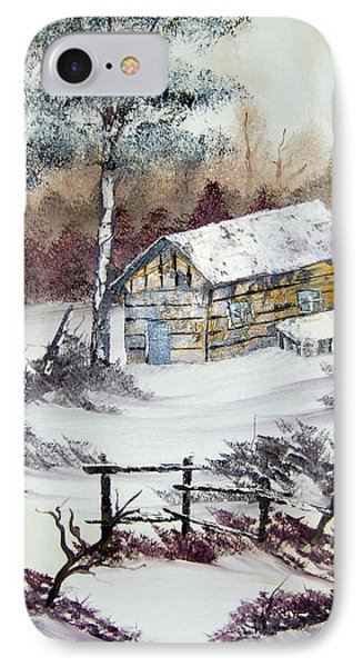 The Old Barn In Winter IPhone Case