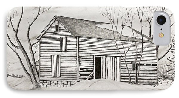 The Old Barn Inwinter IPhone Case by John Stuart Webbstock
