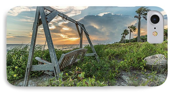 The Old Beach Swing -  Sullivan's Island, Sc IPhone Case