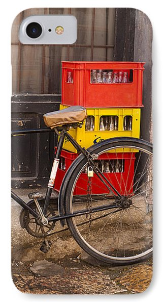 The Old Bicycle Phone Case by Rae Tucker