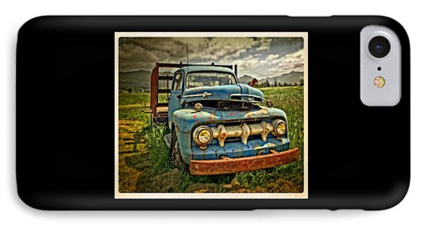The Blue Classic 48 To 52 Ford Truck IPhone Case
