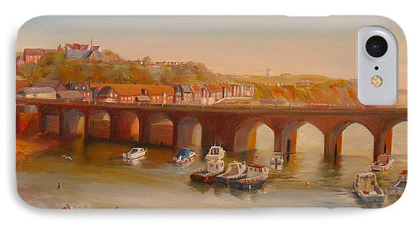 IPhone Case featuring the painting The Old Bridge - Folkestone Harbour by Beatrice Cloake