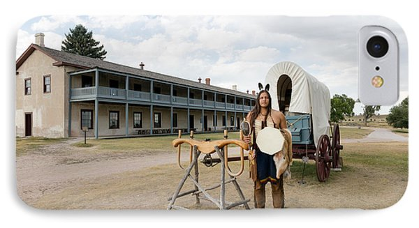 IPhone Case featuring the photograph The Old Cavalry Barracks At Fort Laramie National Historic Site by Carol M Highsmith