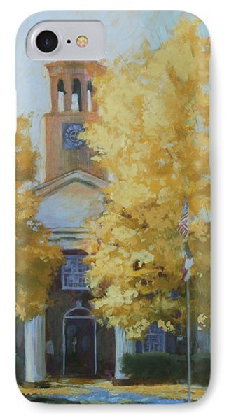 The Old Courthouse, 9am Phone Case by Carol Strickland
