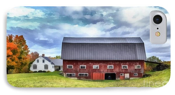 The Old Dairy Barn Etna New Hampshire IPhone Case by Edward Fielding