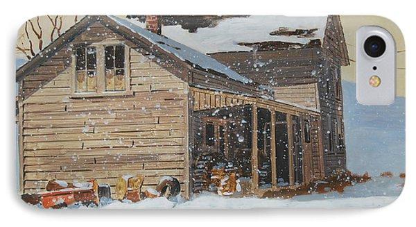 the Old Farm House Phone Case by Len Stomski