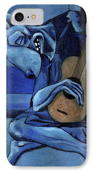 The Old Guitar Dog IPhone Case by Bizarre Bunny