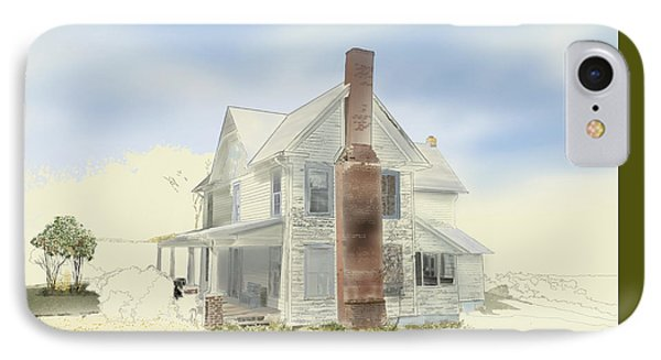 IPhone Case featuring the painting The Home Place - Silent Eyes by Joel Deutsch