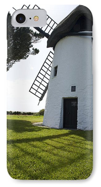 IPhone Case featuring the photograph The Old Irish Windmill by Ian Middleton