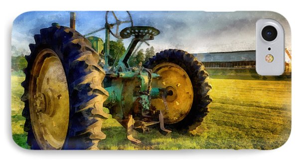 The Old John Deere Tractor IPhone Case by Edward Fielding