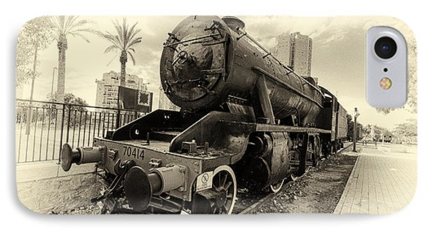 The Old Locomotive IPhone Case by Uri Baruch