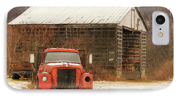 IPhone Case featuring the photograph The Old Lumber Truck by Lori Deiter