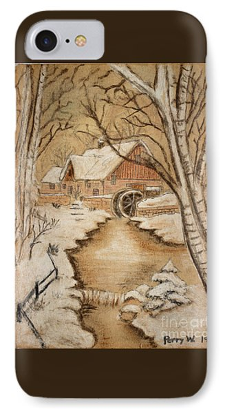 The Old Mill By George Perry Wood 1941 IPhone Case by Karen Adams