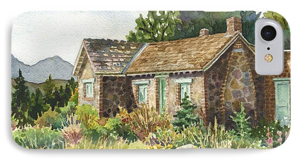 IPhone Case featuring the painting The Old Moore House At Caribou Ranch by Anne Gifford