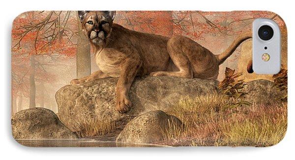 The Old Mountain Lion IPhone Case by Daniel Eskridge