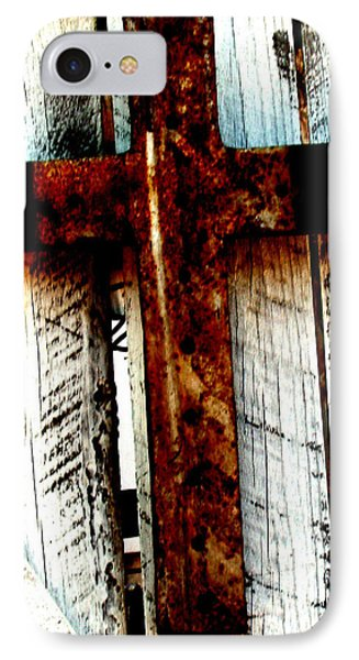 The Old Rusted Cross IPhone Case