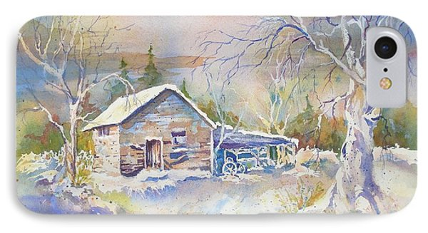 IPhone Case featuring the painting The Old Shed by Mary Haley-Rocks