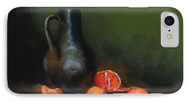 IPhone Case featuring the painting The Old Stoneware Mug by Barry Williamson