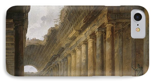 The Old Temple IPhone Case by Hubert Robert