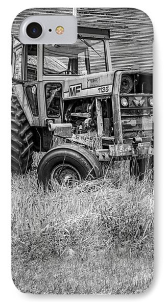 The Old Tractor By The Old Round Barn II IPhone Case by Edward Fielding