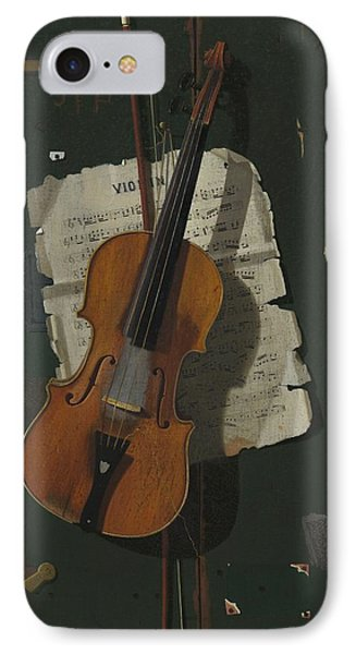 The Old Violin IPhone 7 Case by John Frederick Peto