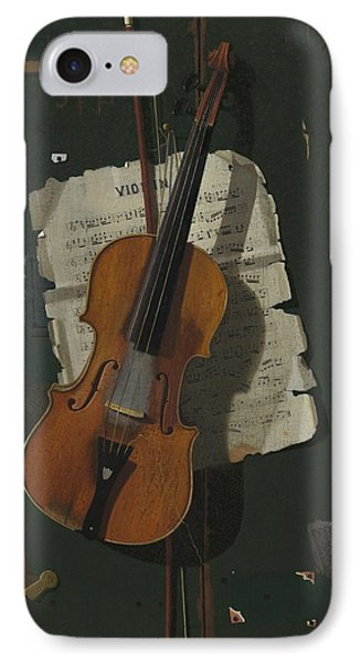 The Old Violin IPhone Case by John Frederick Peto